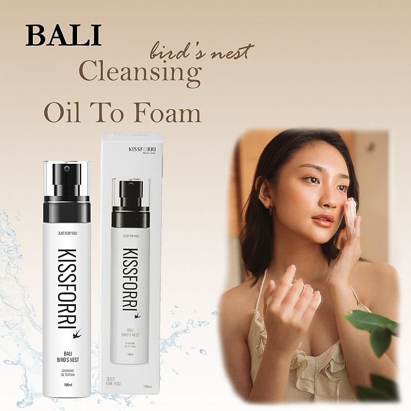 Kissforri Bali Bird Nest Rejuvenating Cleansing Oil To Foam